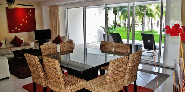 Dinning area Villa-Magna ground floor condominium beach front Nuevo Vallarta